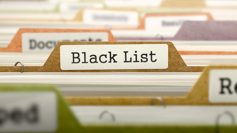 zwarte lijst